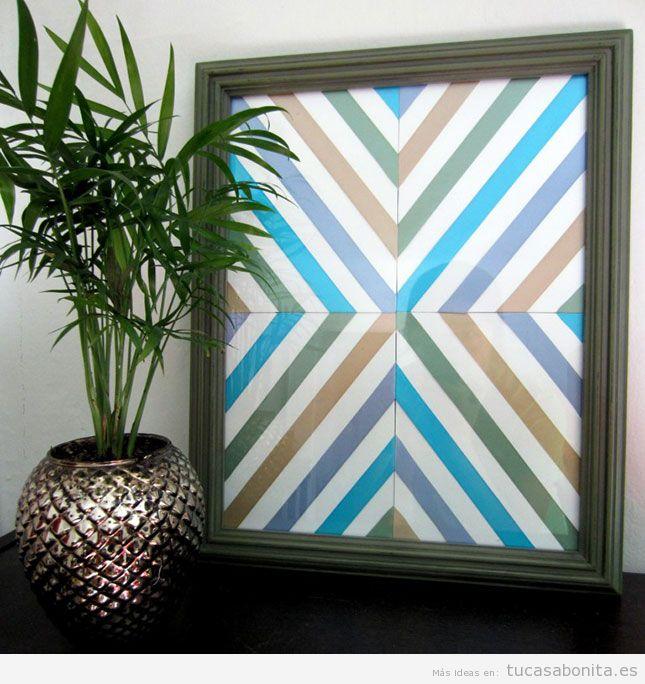 10 ideas para hacer cuadros diy para decorar las paredes for Ideas para decorar casa minimalista