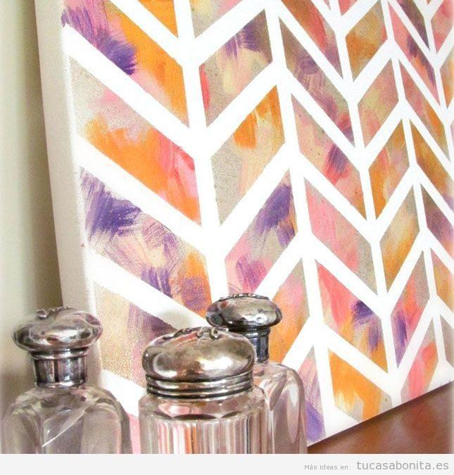 10 ideas para hacer cuadros DIY para decorar las paredes de casa