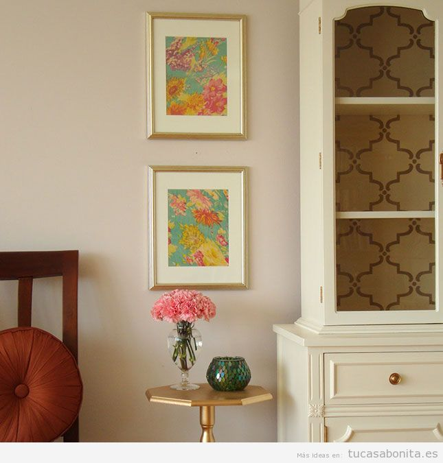 Ideas para decorar las paredes de casa con cuadros DIY 8
