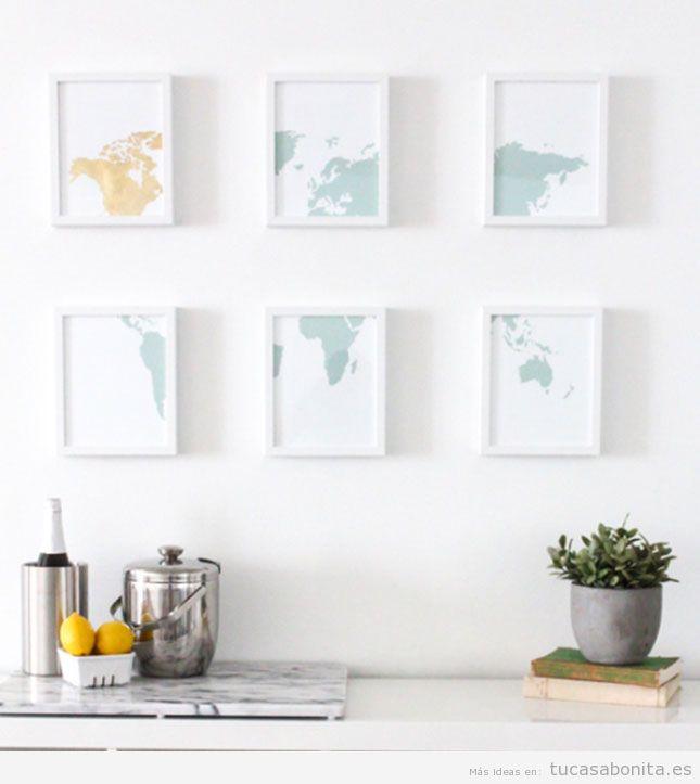 10 ideas para hacer cuadros DIY para decorar las paredes de casa ...