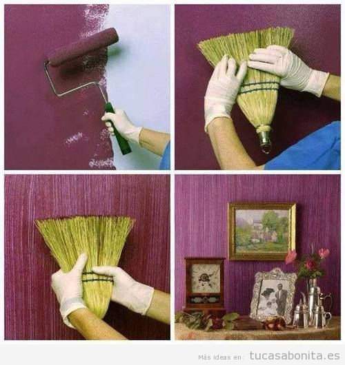 Ideas diy y manualidades para pintar y decorar paredes for Unas facil de decorar en casa