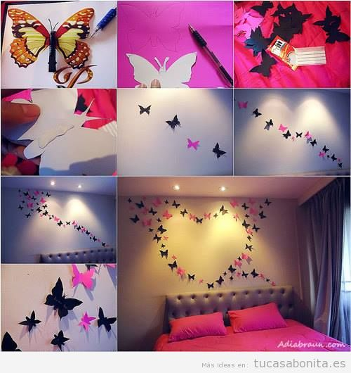 Ideas para decorar pared con mariposas