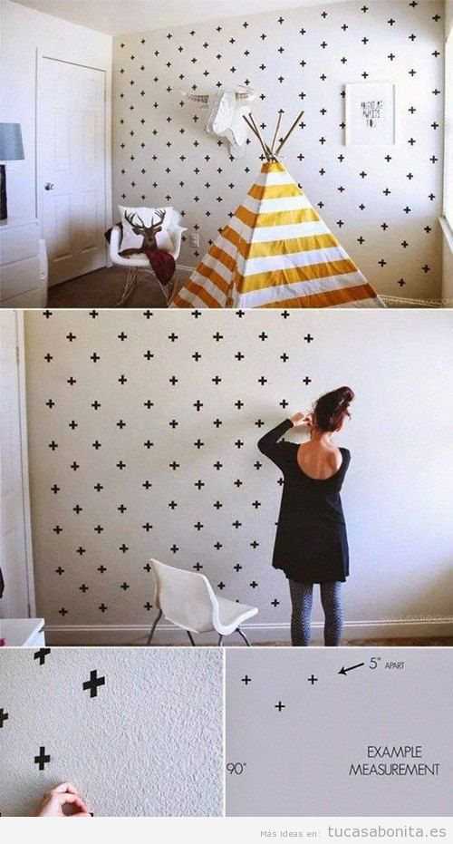 Ideas diy y manualidades para pintar y decorar paredes - Ideas para pintar una pared ...