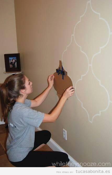 Ideas diy y manualidades para pintar y decorar paredes tu casa bonita - Pintar facil paredes ...