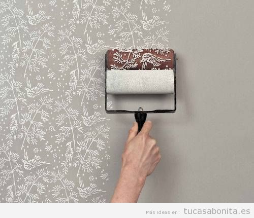Ideas para pintar pared con estampados DIY 3
