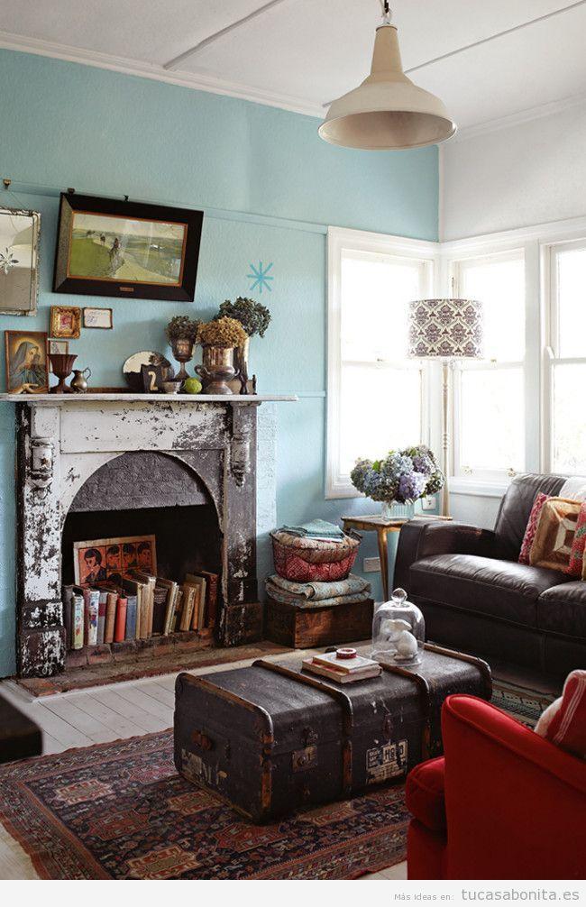 15 ideas para decorar el sal n de casa con estilo vintage - Casas estilo vintage ...