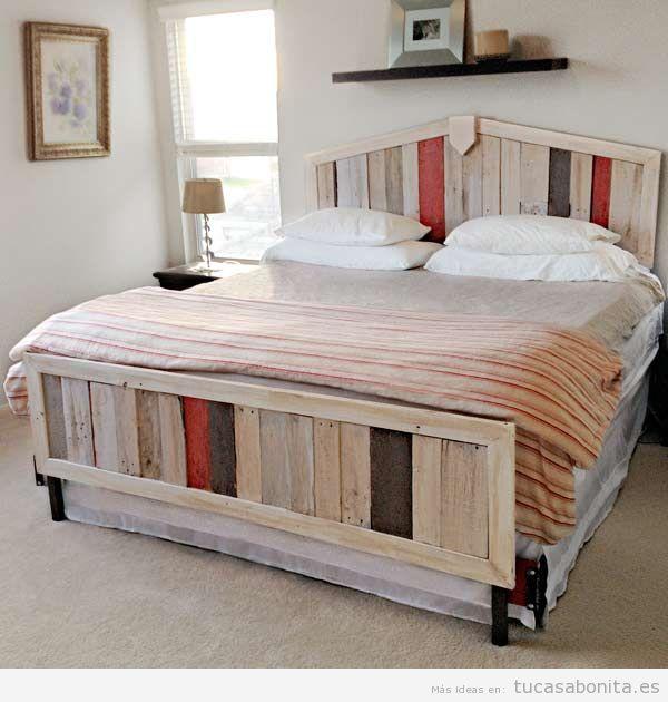 10 camas de matrimonio hechas con palets tu casa bonita - Camas con cama debajo ...