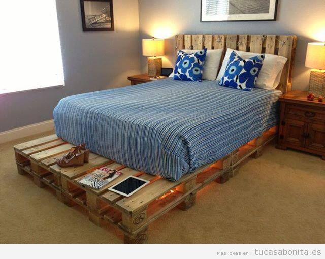 Manualidades tu casa bonita ideas para decorar pisos for Camas con palets