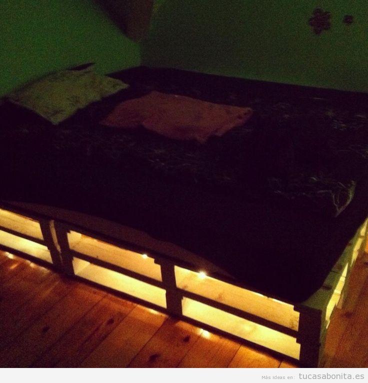 10 camas de matrimonio hechas con palets tu casa bonita for Bases de cama hechas con tarimas