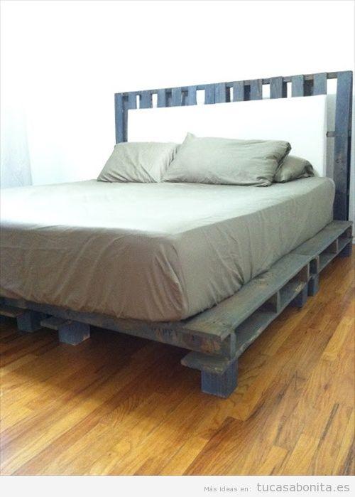 10 camas de matrimonio hechas con palets tu casa bonita for Camas con palets