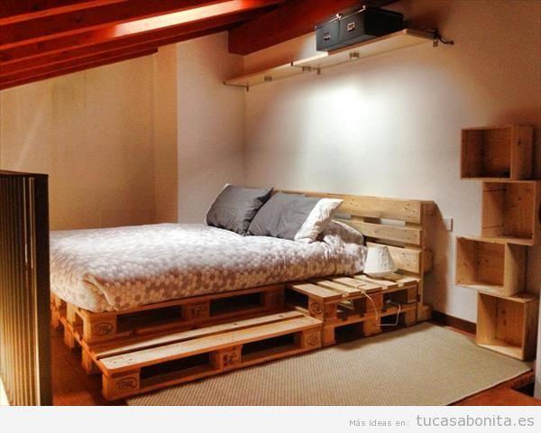 10 camas de matrimonio hechas con palets tu casa bonita - Mesitas para desayunar en la cama ...