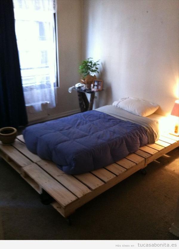 10 camas de matrimonio hechas con palets tu casa bonita - Camas con palets ...