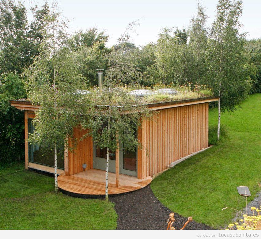 Casas hechas con contenedores que tienen un jard n en el tejado tu casa bonita - Como hacer una casa con un contenedor maritimo ...