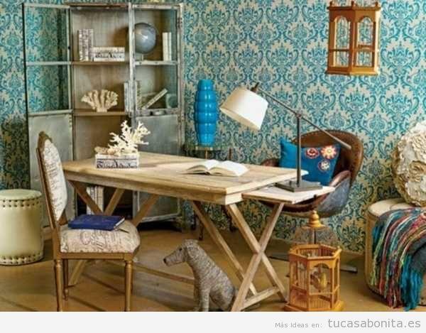 ideas para decorar una oficina en casa estilo vintage 6