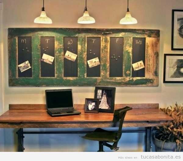 ideas para decorar una oficina en casa estilo vintage 7