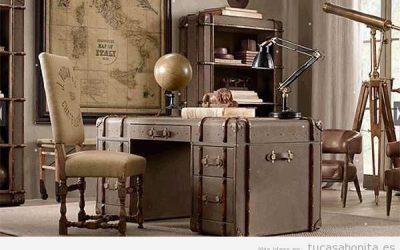 Oficinas y despachos en casa decorados estilo retro y vintage