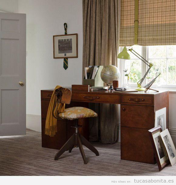 Oficinas y despachos en casa decorados estilo retro y for Fotos despachos en casa