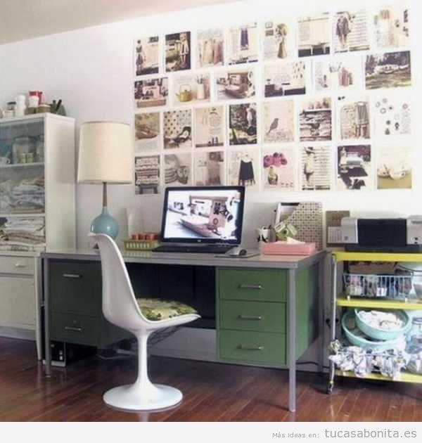 ideas para decorar una oficina en casa estilo vintage 2