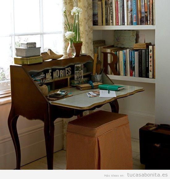 ideas para decorar una oficina en casa estilo vintage 3