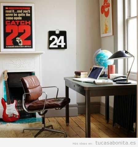 ideas para decorar una oficina en casa estilo vintage 4