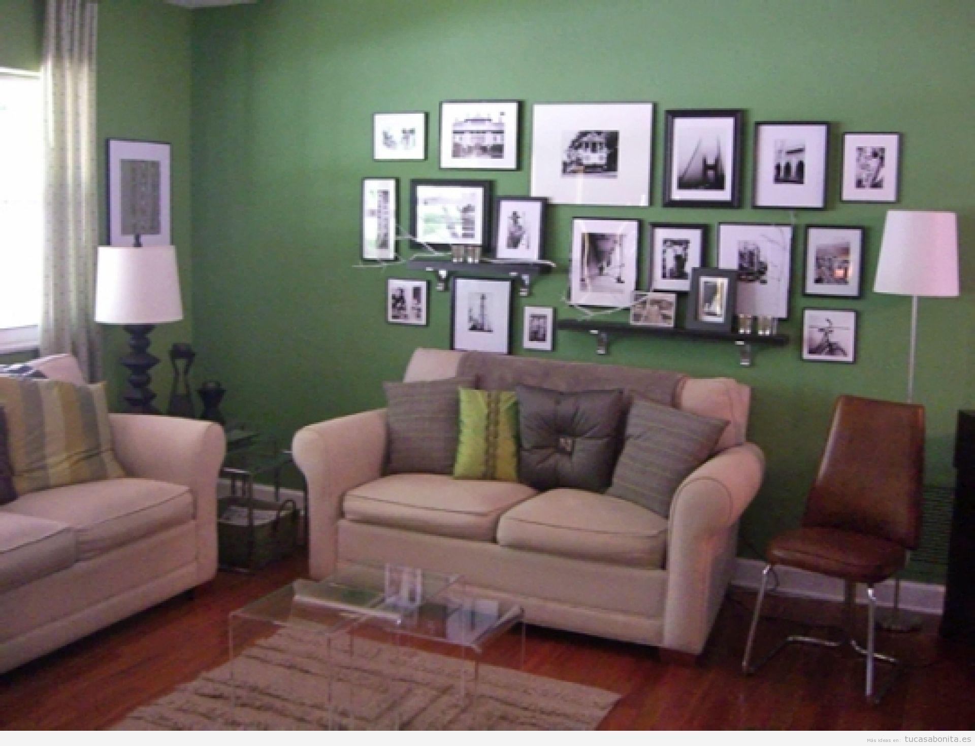 Distintos colores para pintar tu sala de estar y darle un for Ideas para decorar paredes de sala