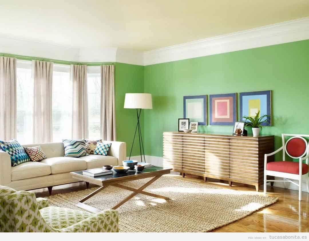 Paredes de salas de estar pintadas de colores 4