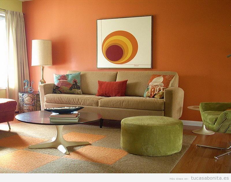 Paredes de salas de estar pintadas de colores 5