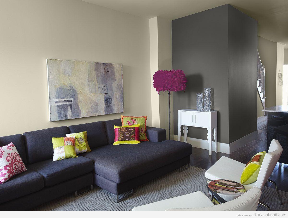 Distintos colores para pintar tu sala de estar y darle un - Color arena para paredes ...