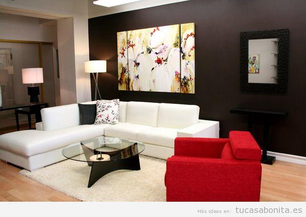 Paredes de salas de estar pintadas de colores 14