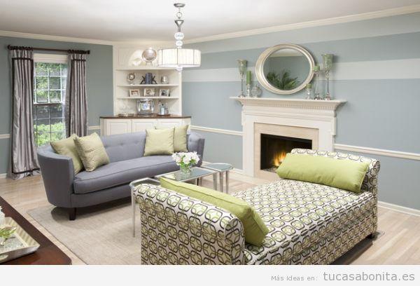 Paredes de salas de estar pintadas de colores