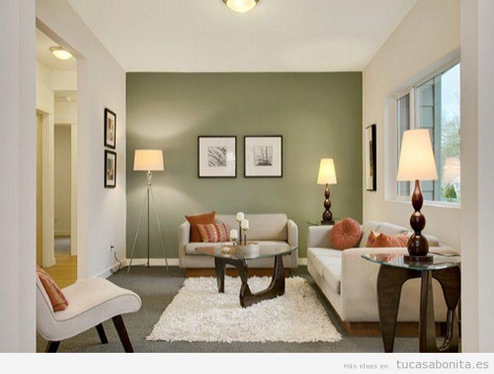 Paredes de salas de estar pintadas de colores 3