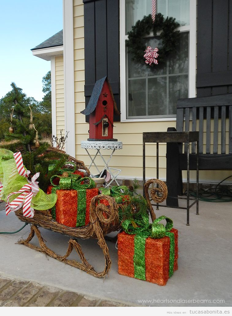 Ideas para decorar el exterior de tu casa en Navidad 9