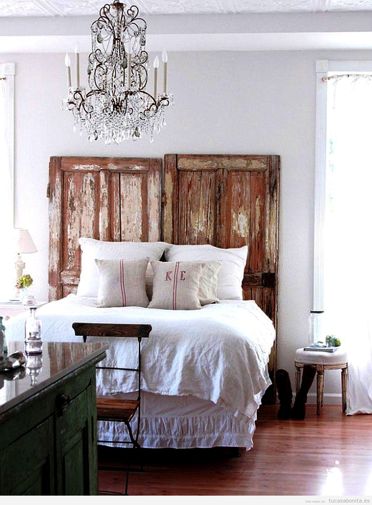 Cabeceros de cama decorados tableros puertas y ventanas - Decorar cabecero cama ...