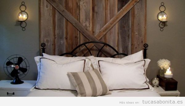 Cabeceros de cama decorados tableros, puertas y ventanas de madera ...