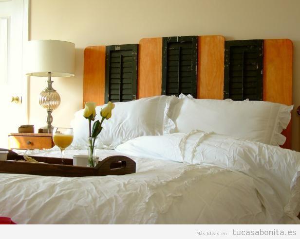 Cabeceros de cama decorados tableros puertas y ventanas de madera tu casa bonita - Telas para cabeceros de cama ...