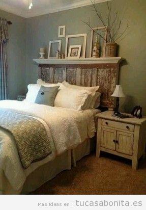 Cabeceros de cama decorados tableros puertas y ventanas - Puertas de madera decoradas ...