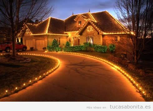 10 decoraciones bonitas y elegantes para el exterior de - Luces exteriores para casas ...