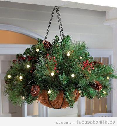 10 decoraciones bonitas y elegantes para el exterior de - Decoracion navidena para exteriores ...
