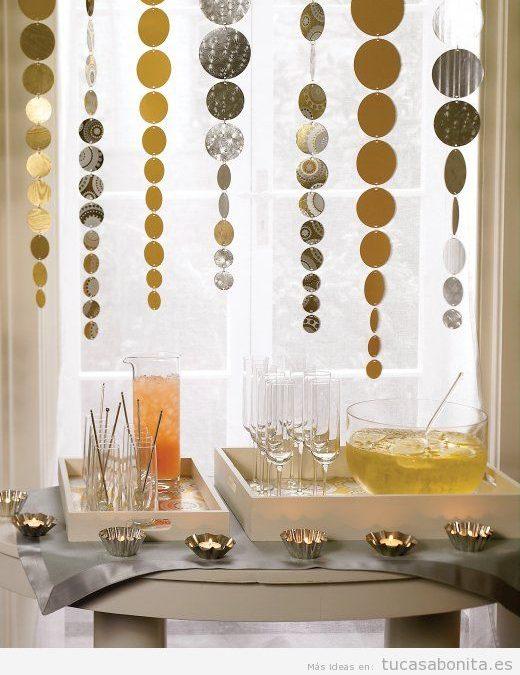 Decoración de mesa y salón de casa para Nochevieja 2015 y Año Nuevo 2016