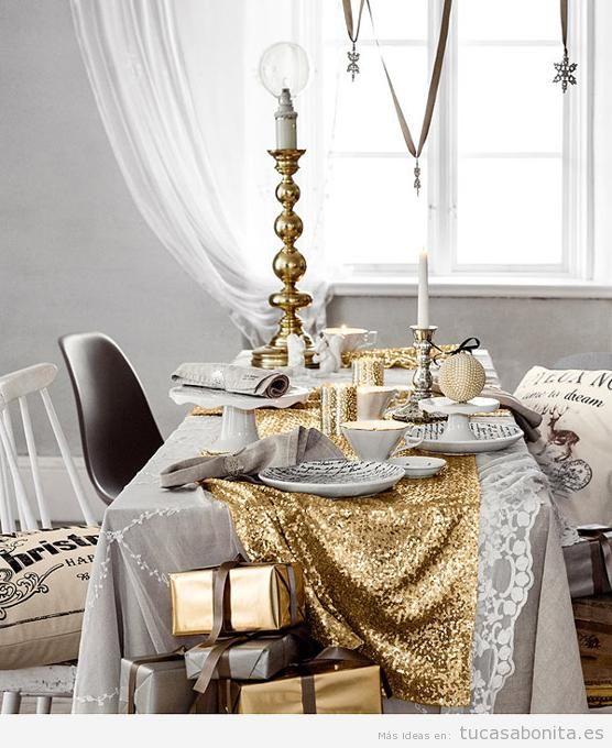 Decoración de mesa y salón para Nochevieja 2