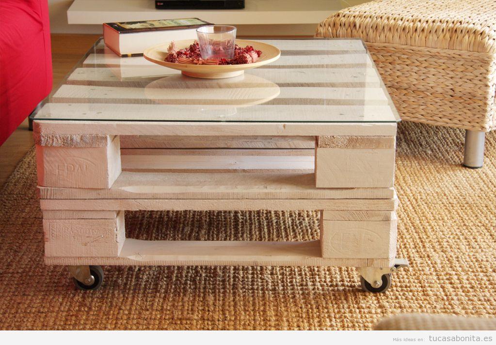 Ideas para hacer mesas con madera diy tu casa bonita - Como decorar una mesa de jardin ...