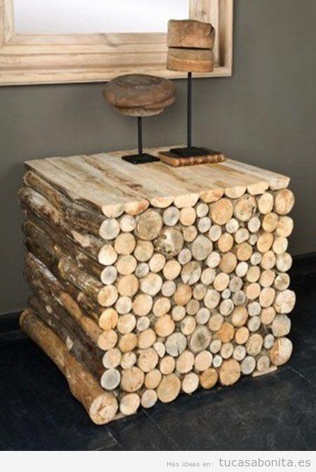 Ideas para hacer mesas con madera diy tu casa bonita for Como restaurar una mesa de madera