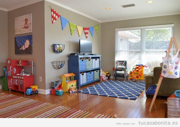 Decoración de sala de juegos infantil en casa