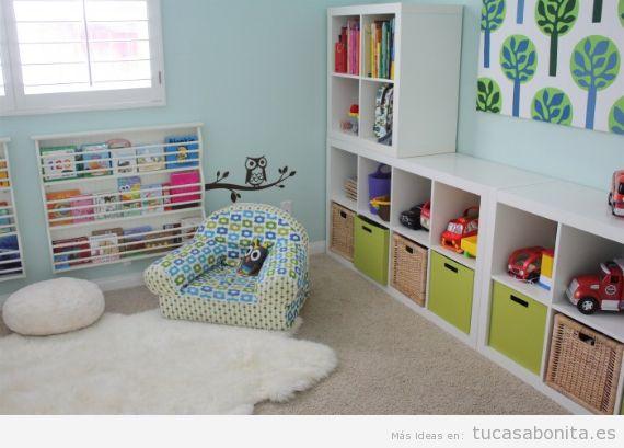 Ideas para decorar la salita de juego de los ni os en casa - Habitacion para 2 ninos ...