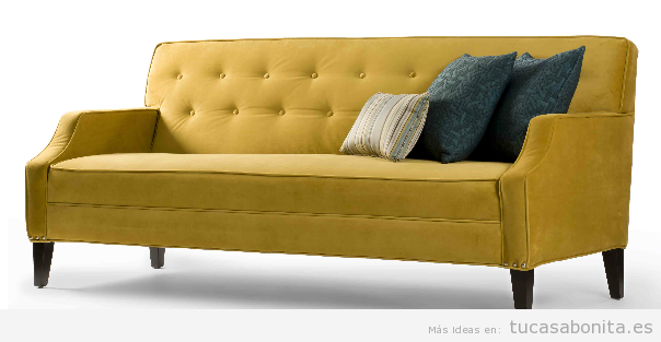 Decorar salón con sofás vintage y retro 7