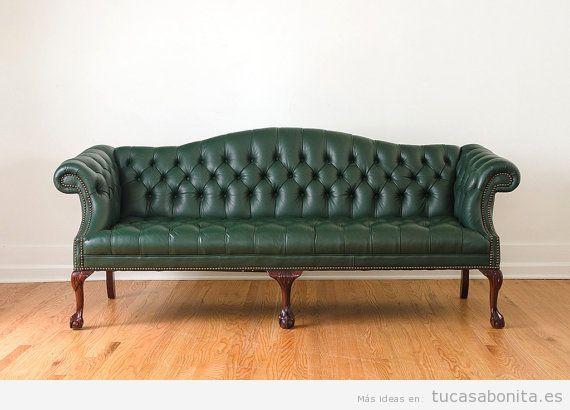 Decorar salón con sofás vintage y retro 10
