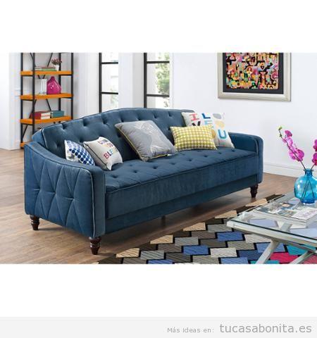 Decorar salón con sofás vintage y retro