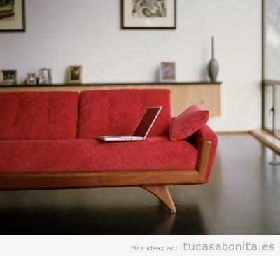 Decorar salón con sofás vintage y retro 2