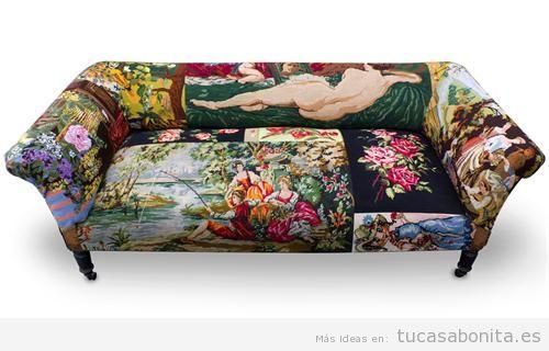 Decorar salón con sofás vintage y retro 9