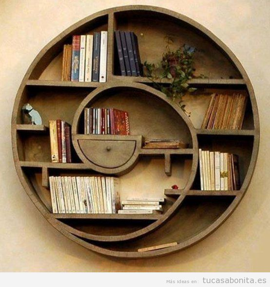 Estanterías originales diseño biblioteca en casa